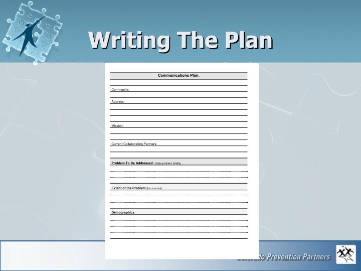 Writing The Plan