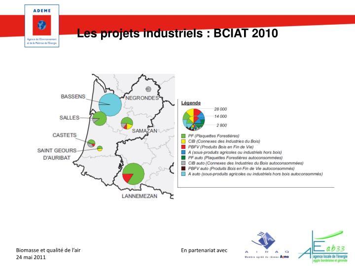 Les projets industriels : BCIAT 2010