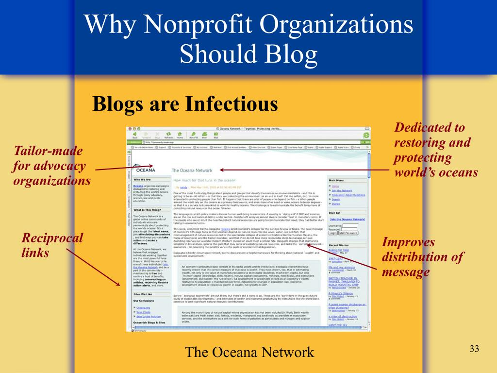 Why Nonprofit Organizations Should Blog