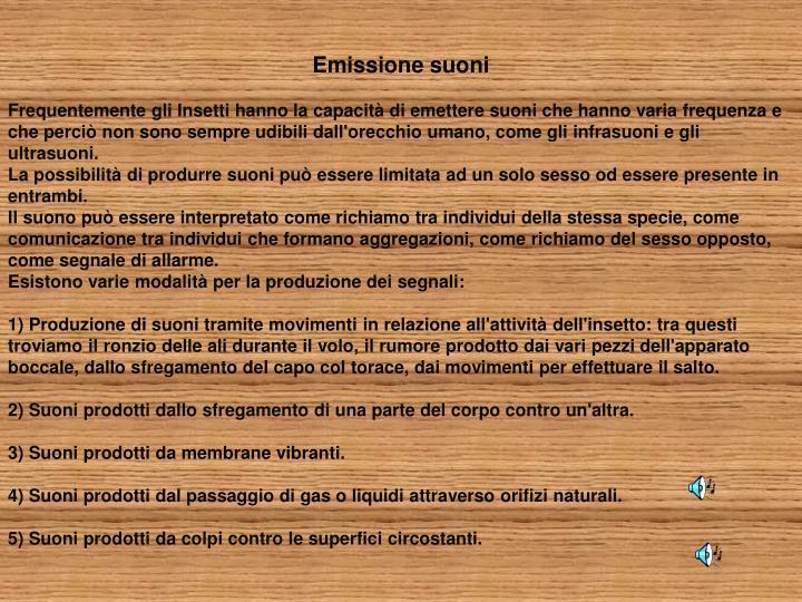 Emissione suoni