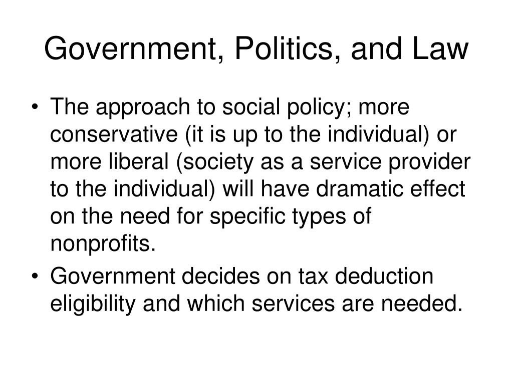 Government, Politics, and Law