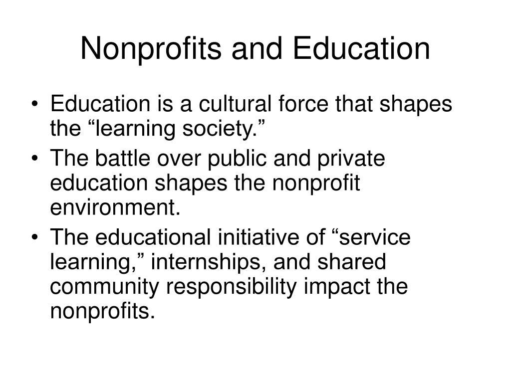 Nonprofits and Education