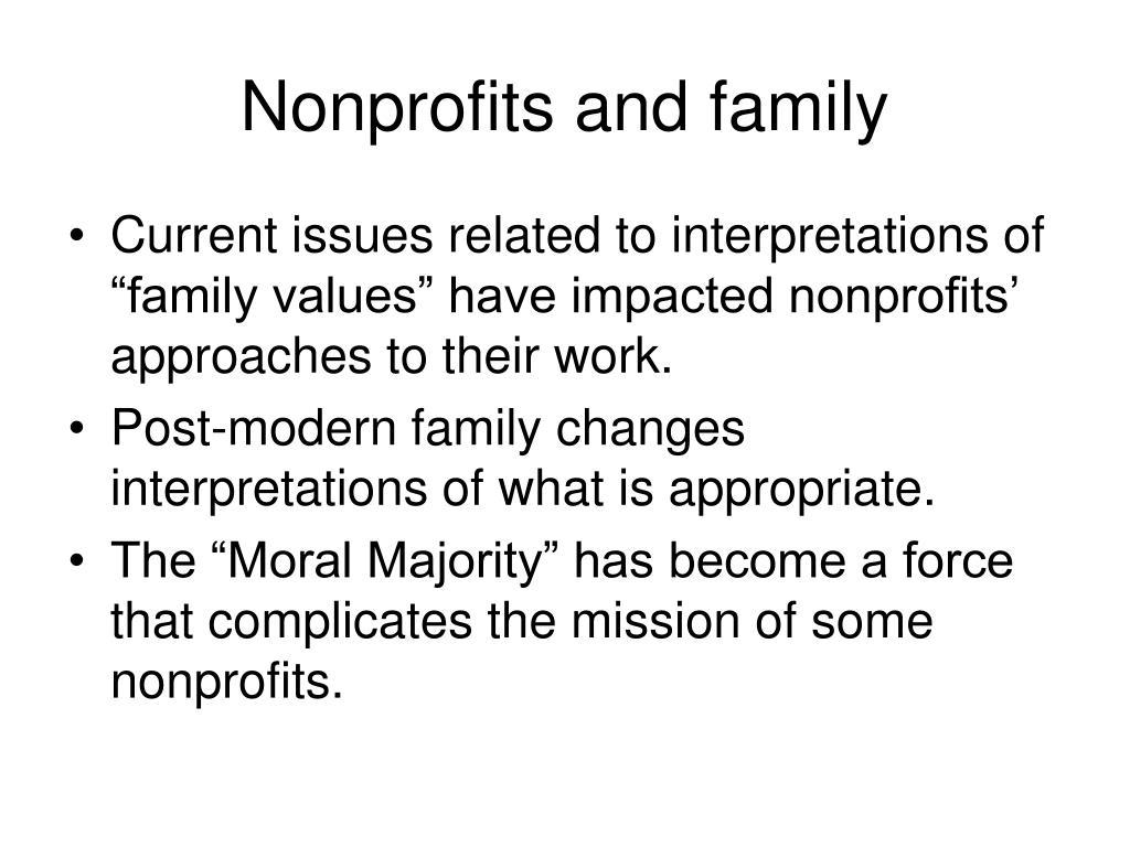 Nonprofits and family