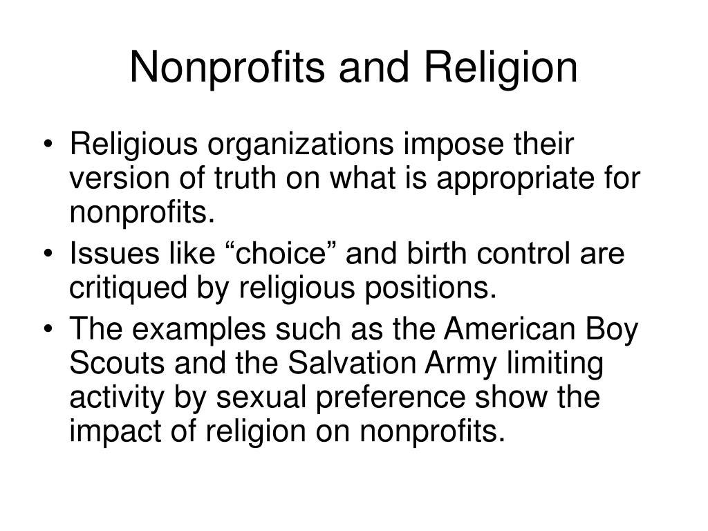 Nonprofits and Religion