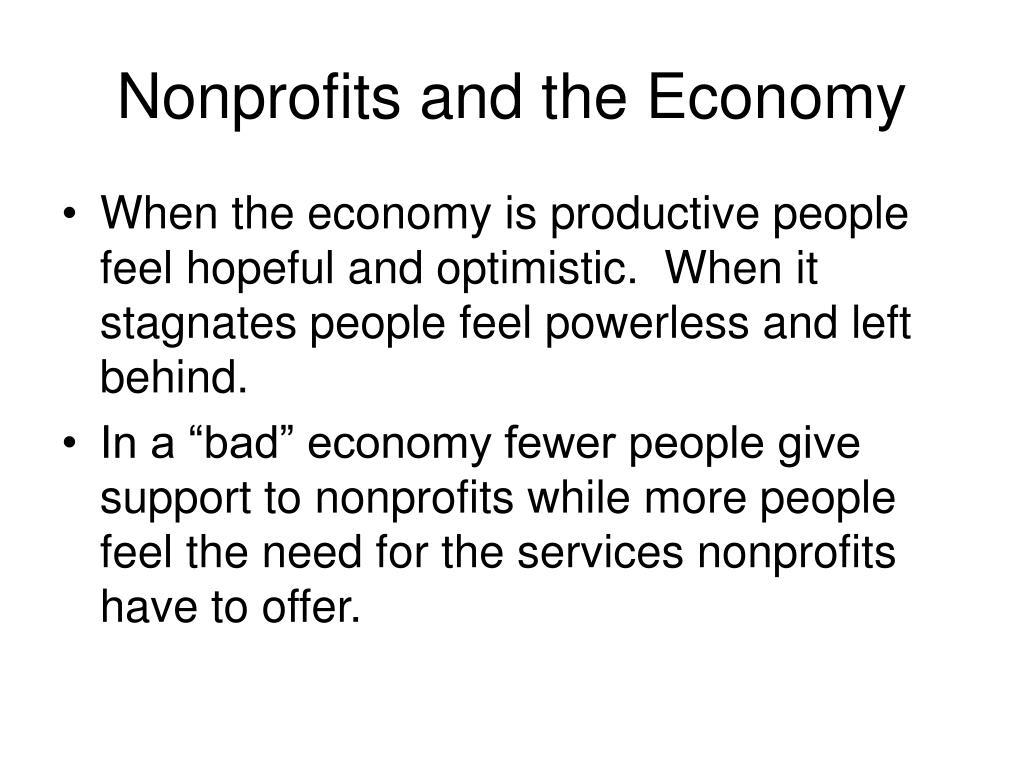 Nonprofits and the Economy