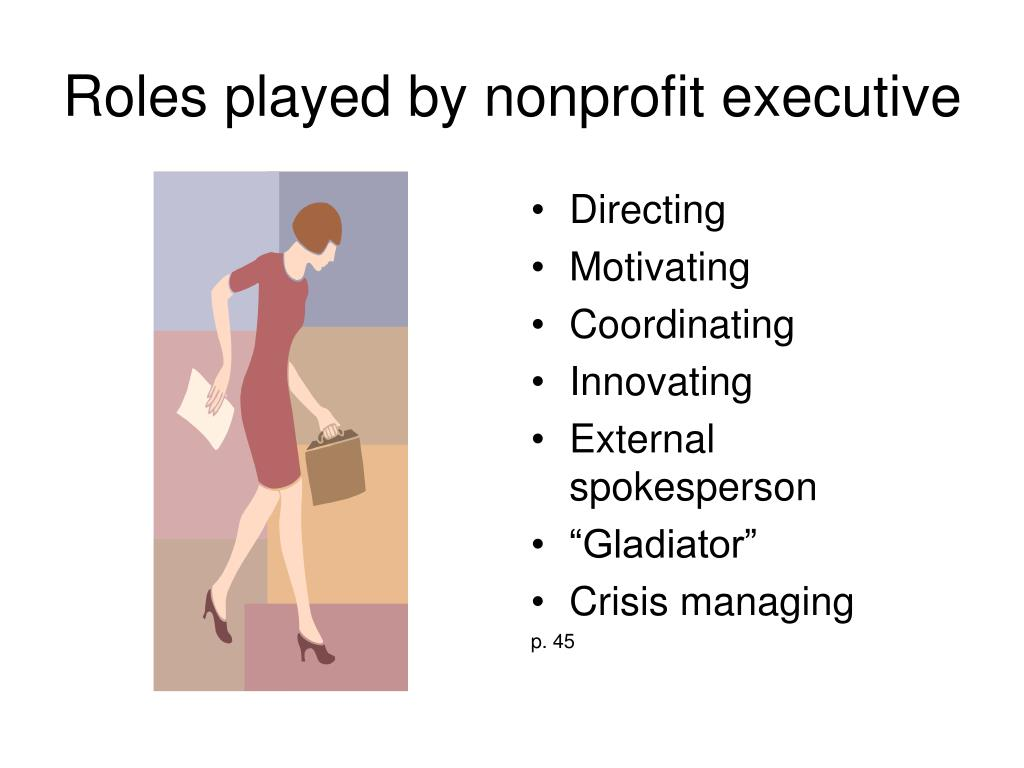 Roles played by nonprofit executive