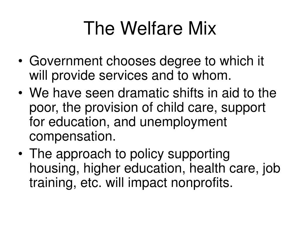 The Welfare Mix
