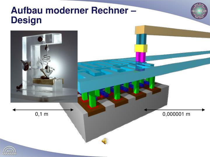 Aufbau moderner Rechner – Design
