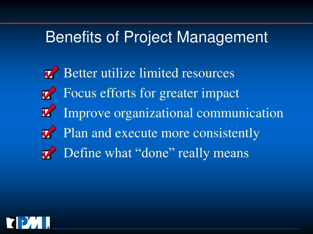 Benefits of Project Management