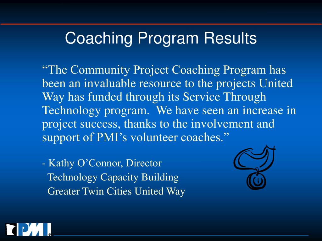 Coaching Program Results