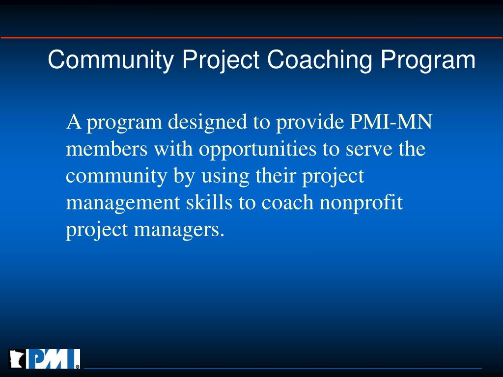 Community Project Coaching Program