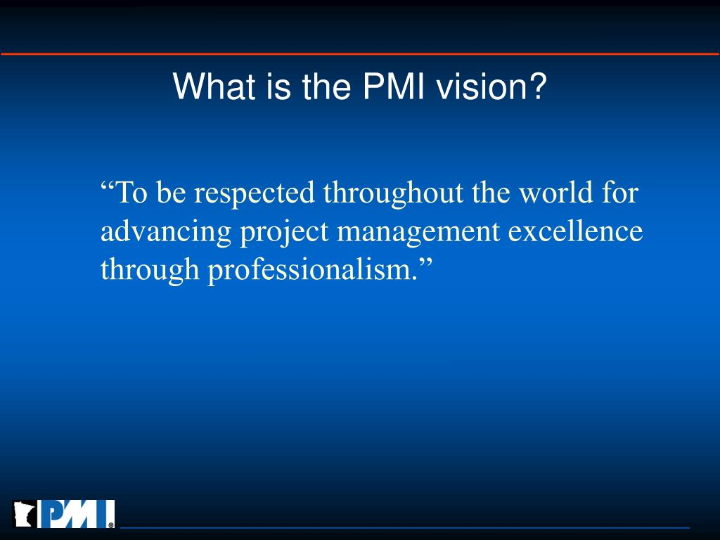 What is the PMI vision?