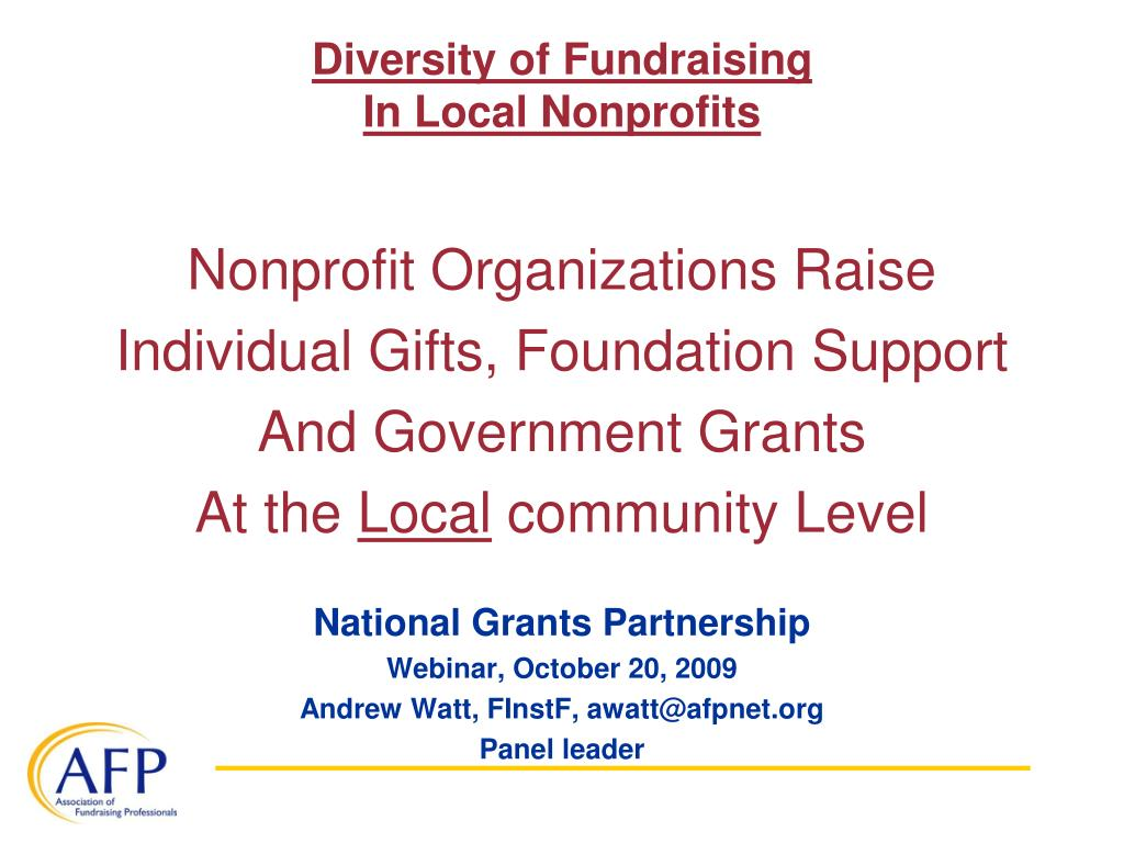 Diversity of Fundraising