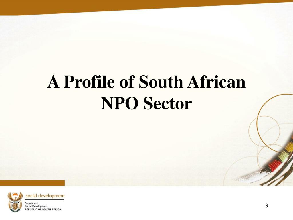 A Profile of South African   NPO Sector