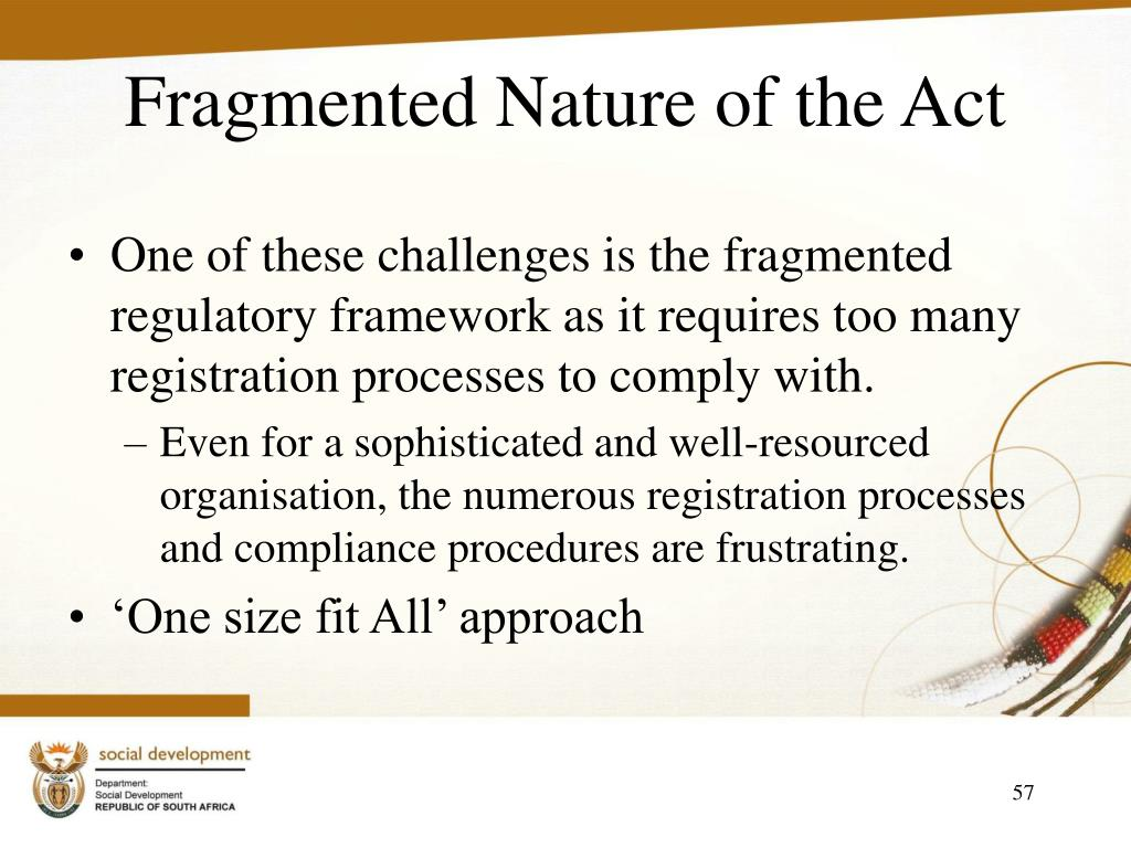 Fragmented Nature of the Act