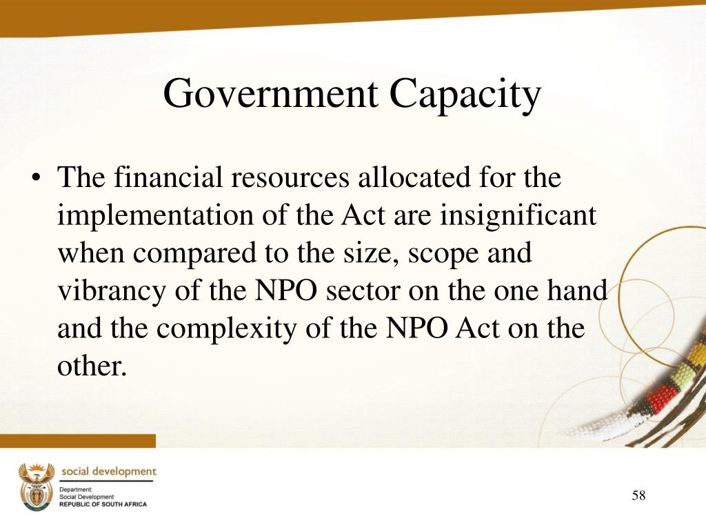 Government Capacity