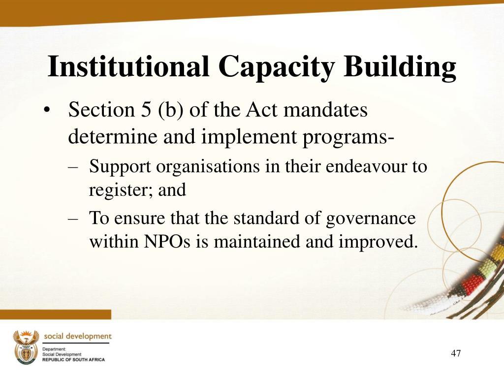 Institutional Capacity Building