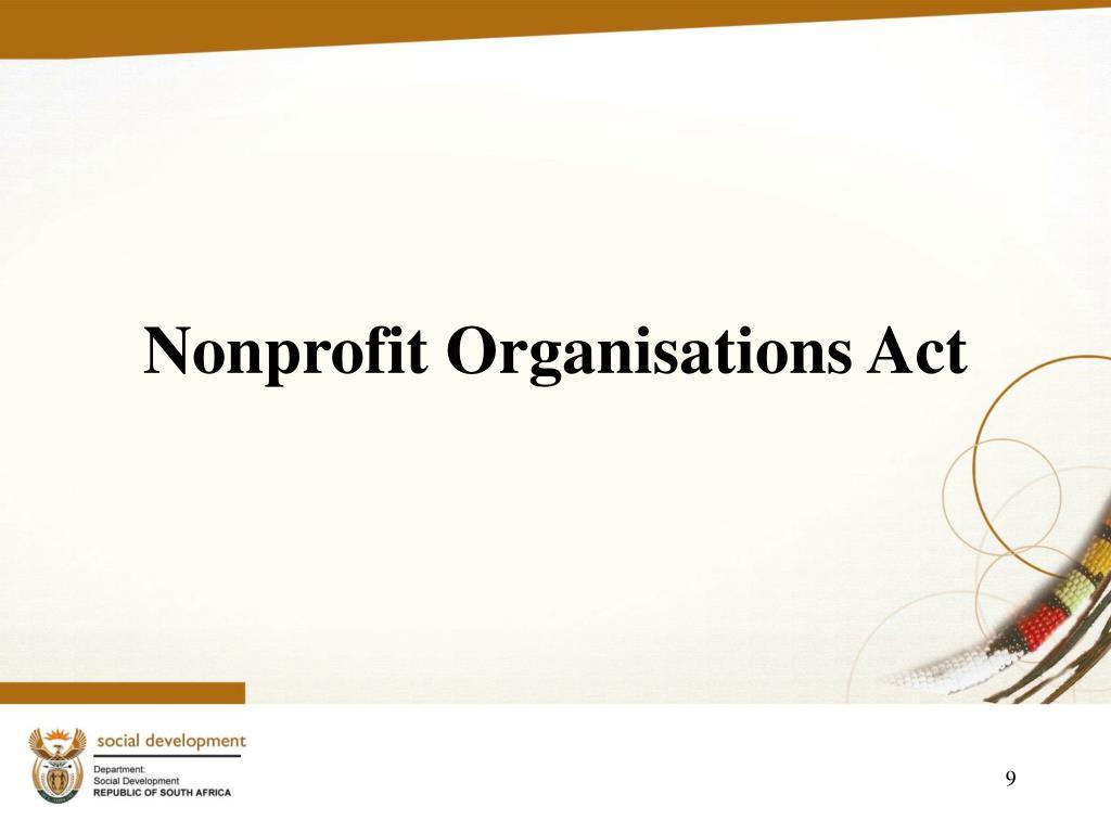 Nonprofit Organisations Act
