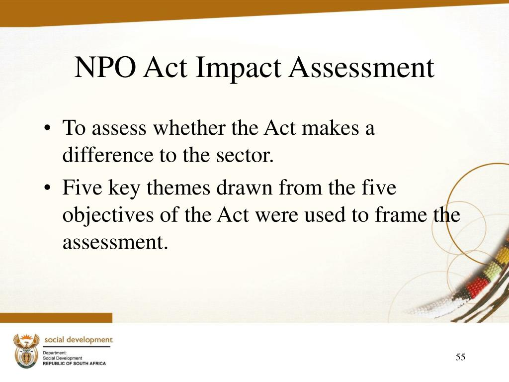 NPO Act Impact Assessment
