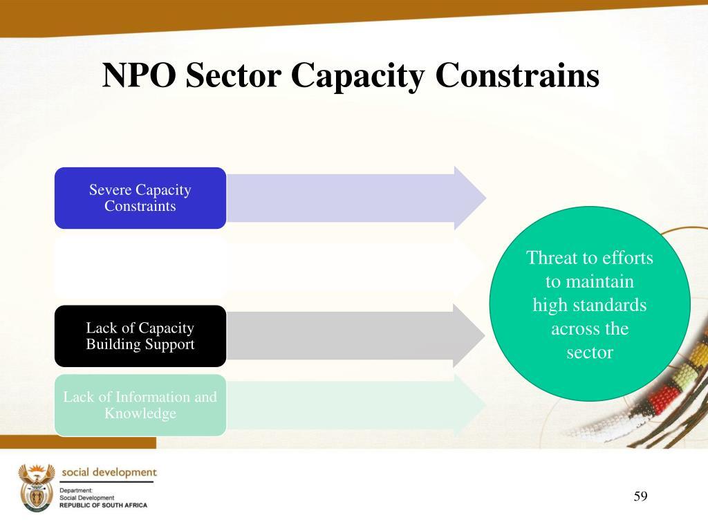 NPO Sector Capacity Constrains