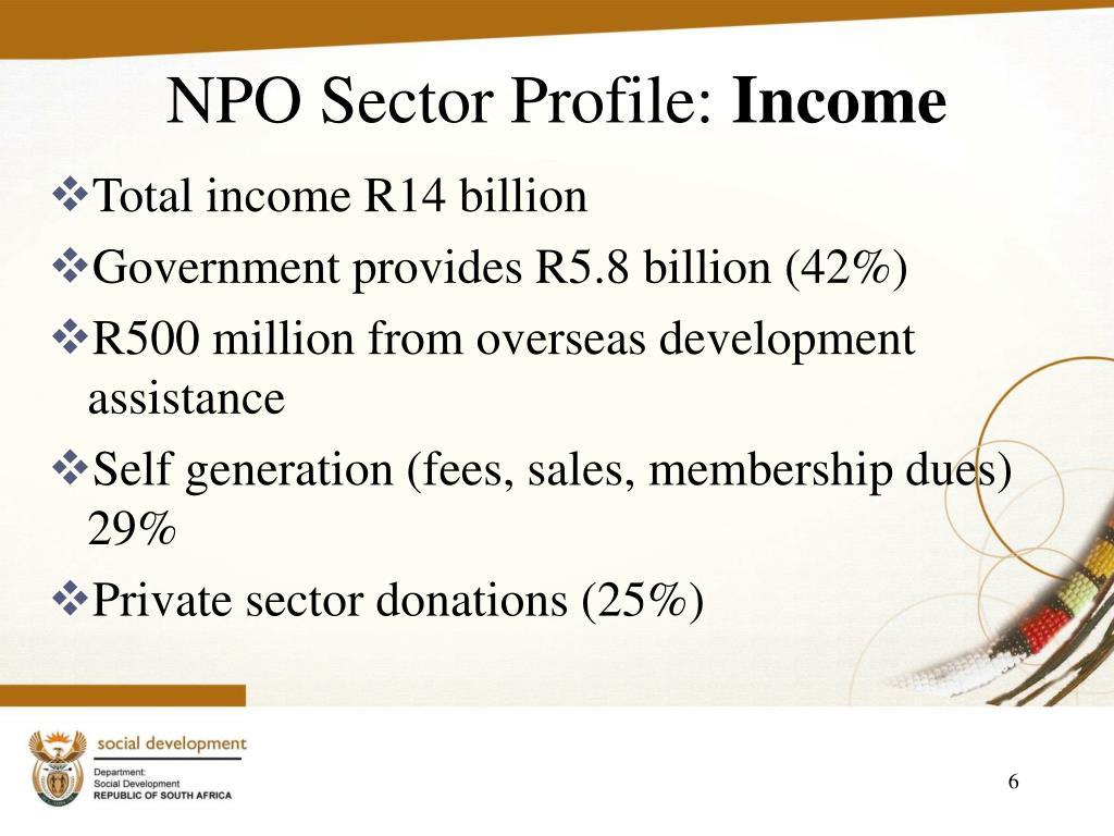 NPO Sector Profile: