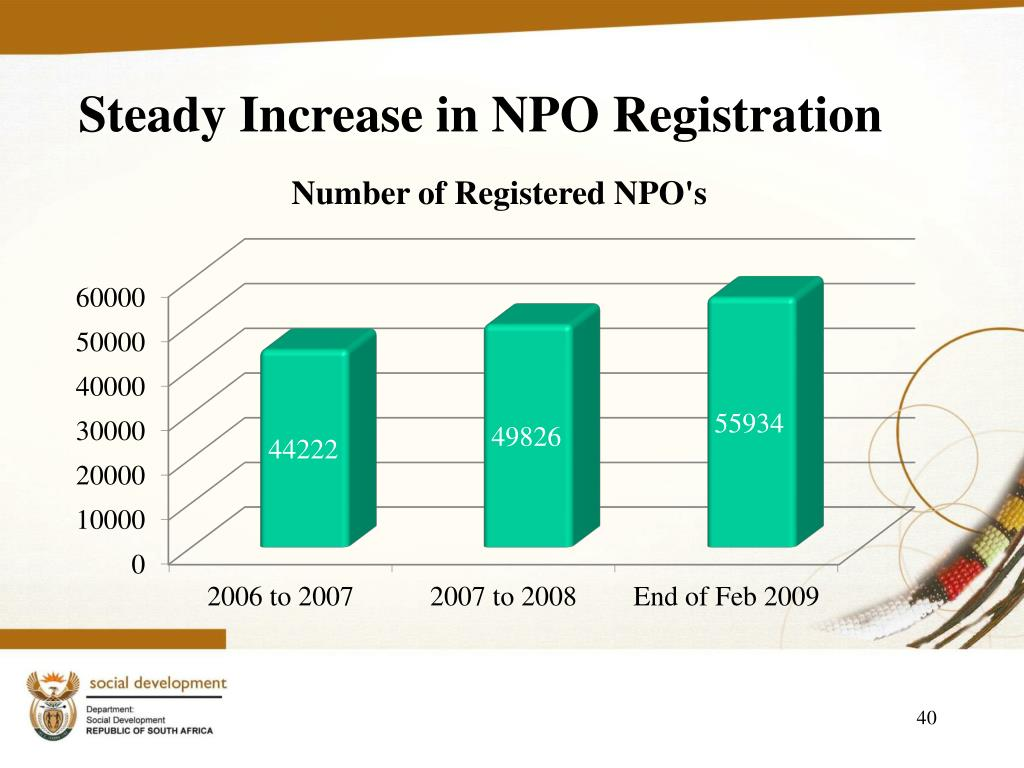 Steady Increase in NPO Registration