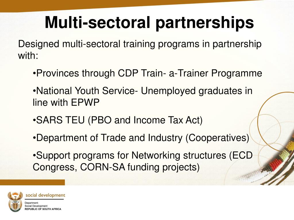 Multi-sectoral partnerships