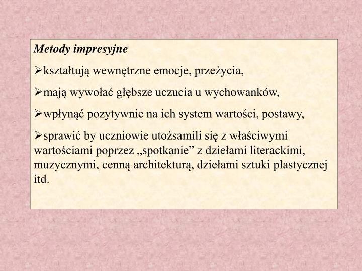 Metody impresyjne