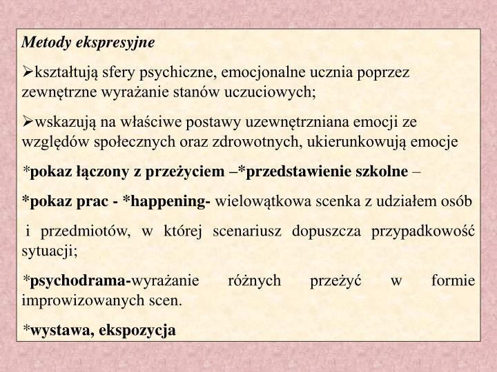 Metody ekspresyjne