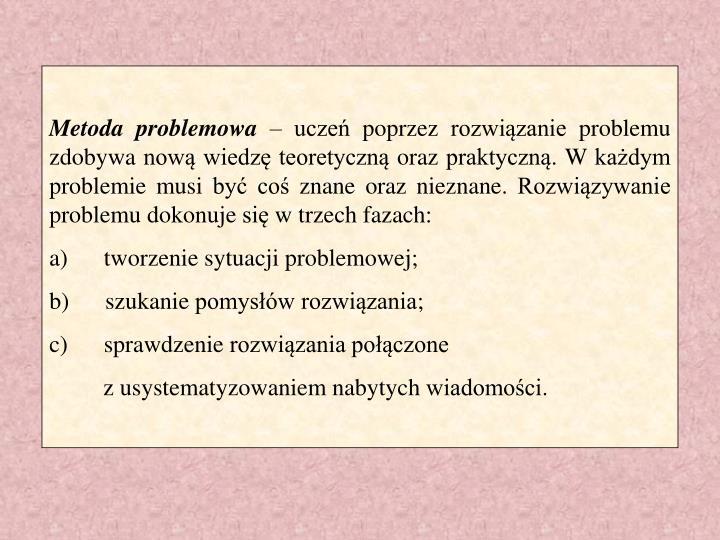 Metoda problemowa
