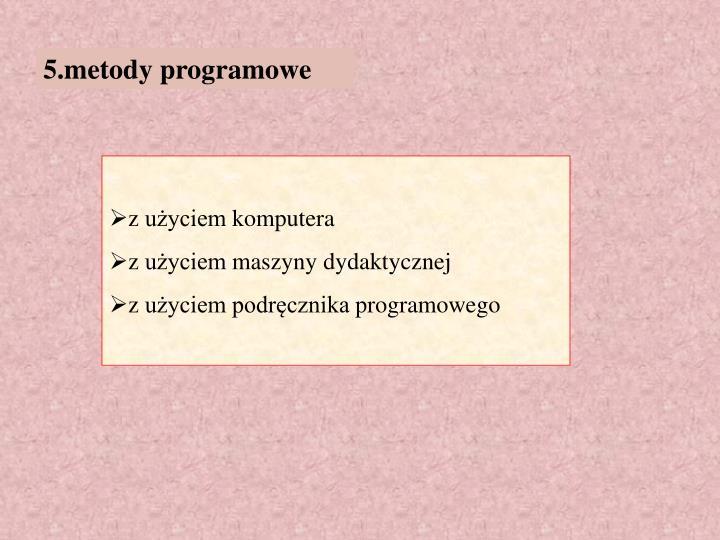 5.metody programowe