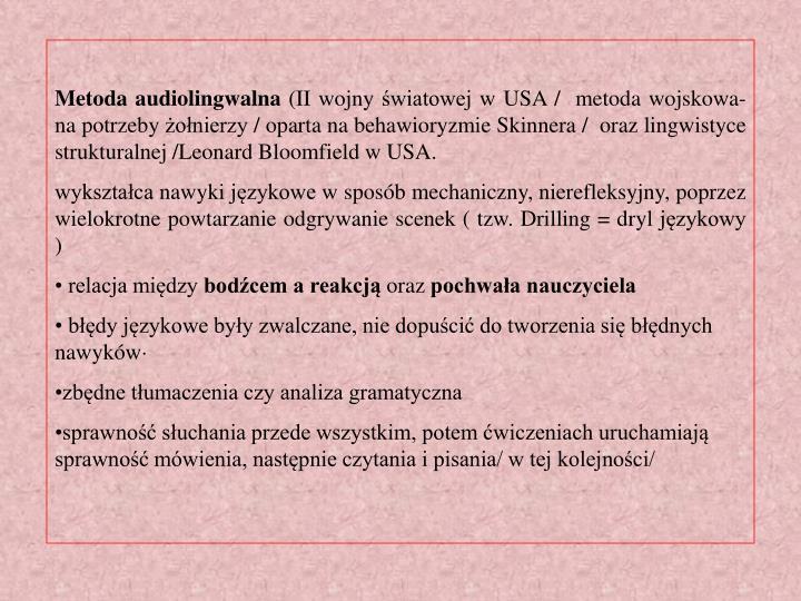 Metoda audiolingwalna