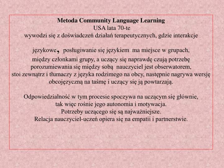 Metoda Community Language Learning