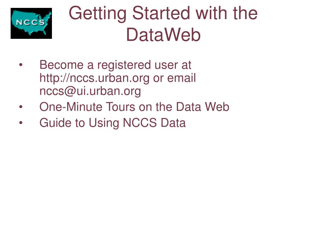 Getting Started with the DataWeb