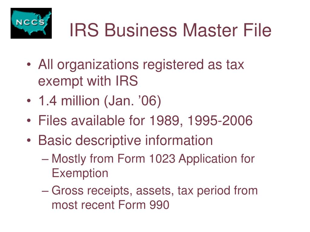 IRS Business Master File