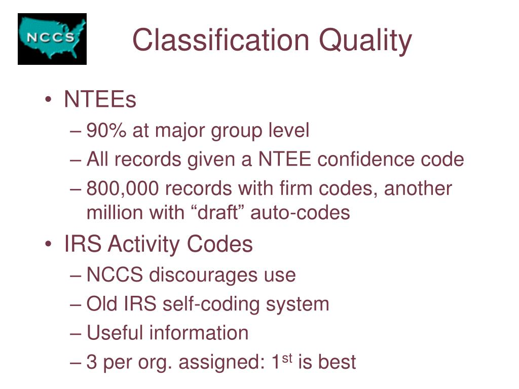 Classification Quality