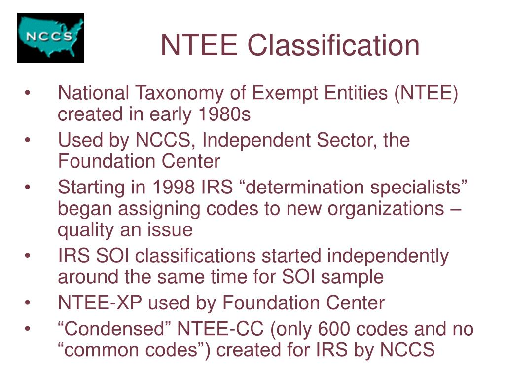 NTEE Classification