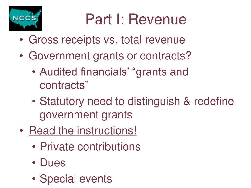Part I: Revenue