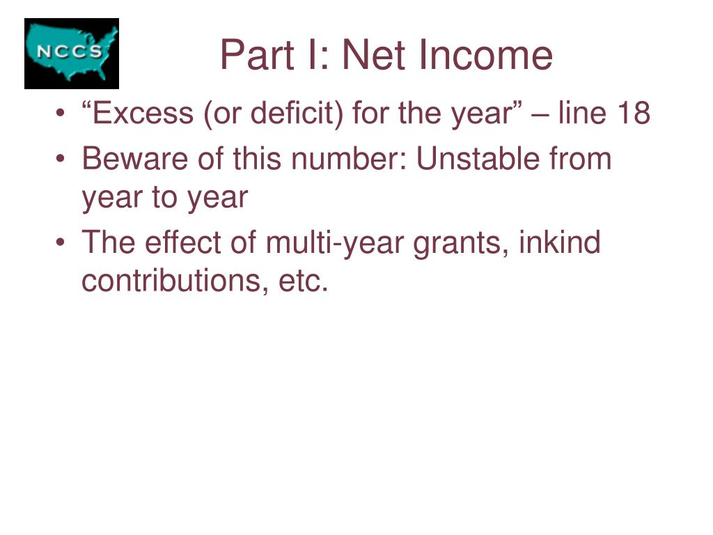 Part I: Net Income