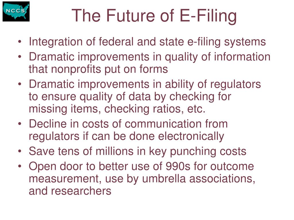 The Future of E-Filing