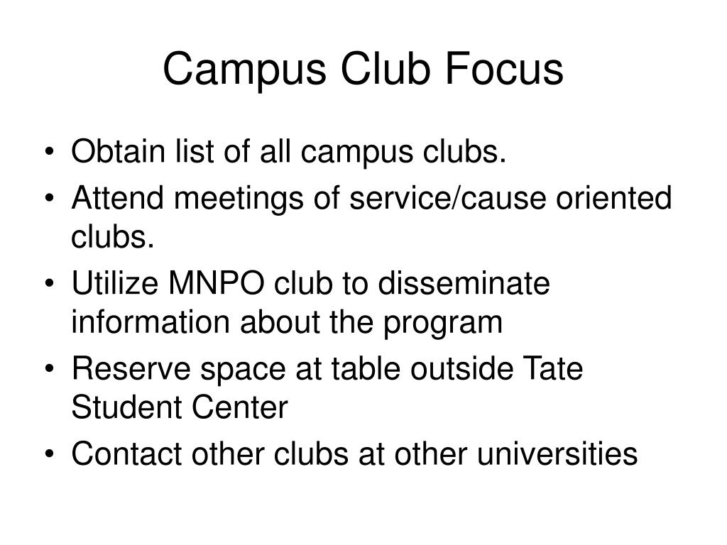 Campus Club Focus