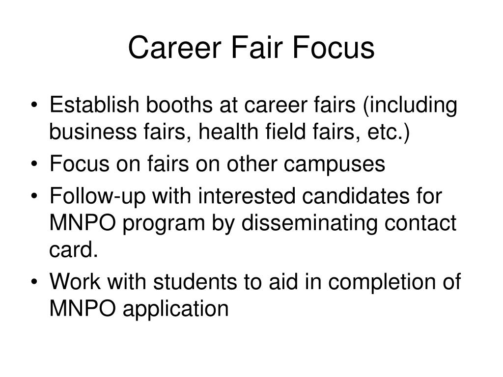 Career Fair Focus