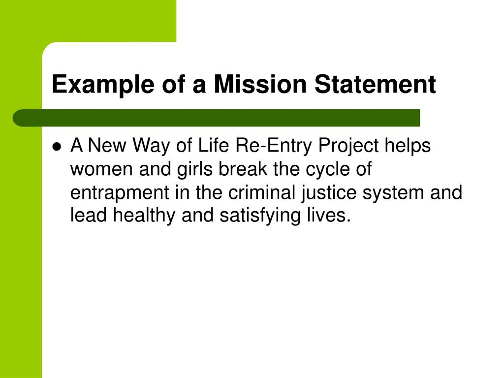 Example of a Mission Statement
