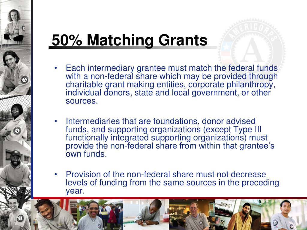 50% Matching Grants