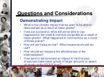 questions and considerations17