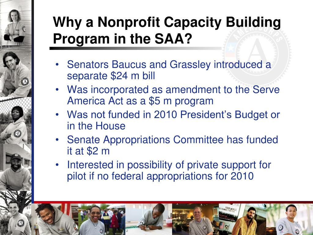 Why a Nonprofit Capacity Building Program in the SAA?