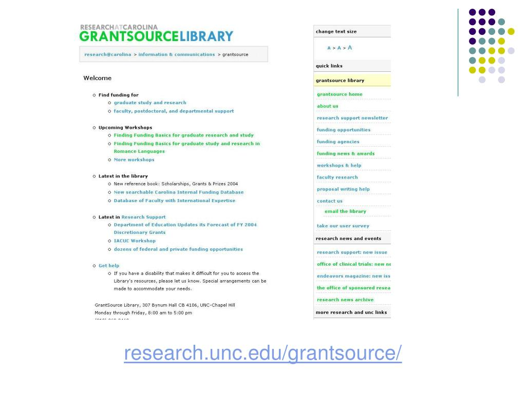 research.unc.edu/grantsource/
