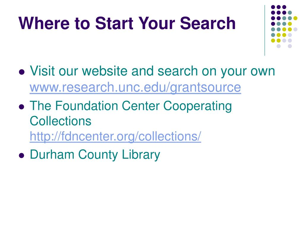 Where to Start Your Search