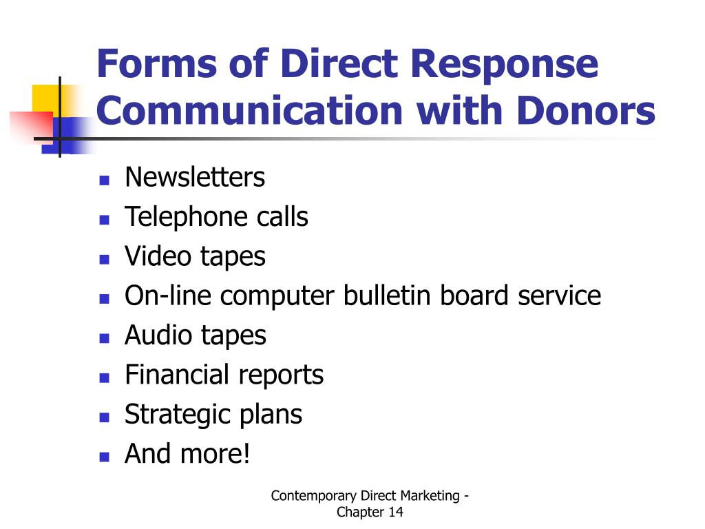 Forms of Direct Response