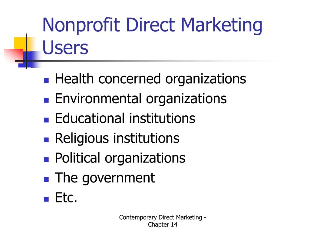Nonprofit Direct Marketing Users